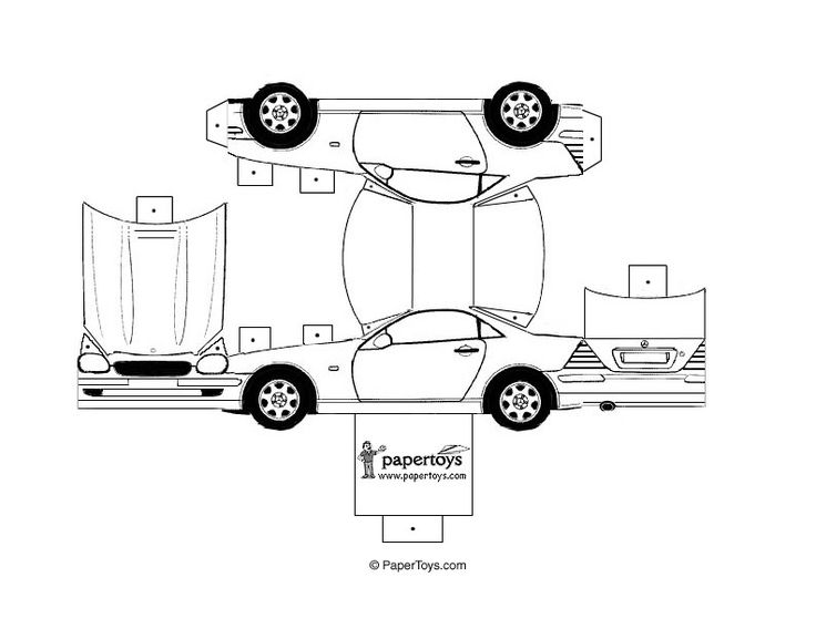 Mercedes 320 SL - Paper Cutouts by PaperToys.com