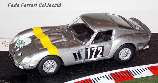 Ferrari 250GTO nº172 (chasis #4153GT), vencedor de Tour de France Auto de 1964 con Lucien Bianchi y Georges Berger, luciendo los colores de la Ecurie Francorchamps. Modelo realizado a escala 1:43 por IXO para la Gazzetta dello Sport