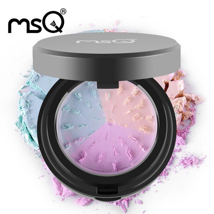 MSQ 전문 화장품 도구 느슨한 분말 3 색 미네랄 파우더 퍼프 미네랄 매트 메이크업 도구 미용