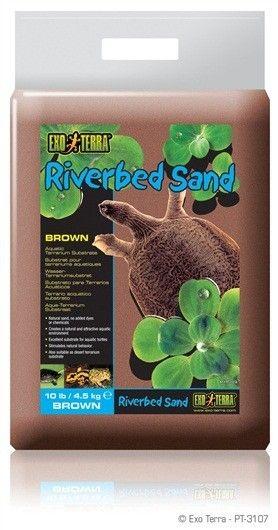 Arena de Rio Roja EXOTERRA La arena del lecho de río es ideal para distintos tipos de tortugas de agua tal como lo es en la vida silvestre.
