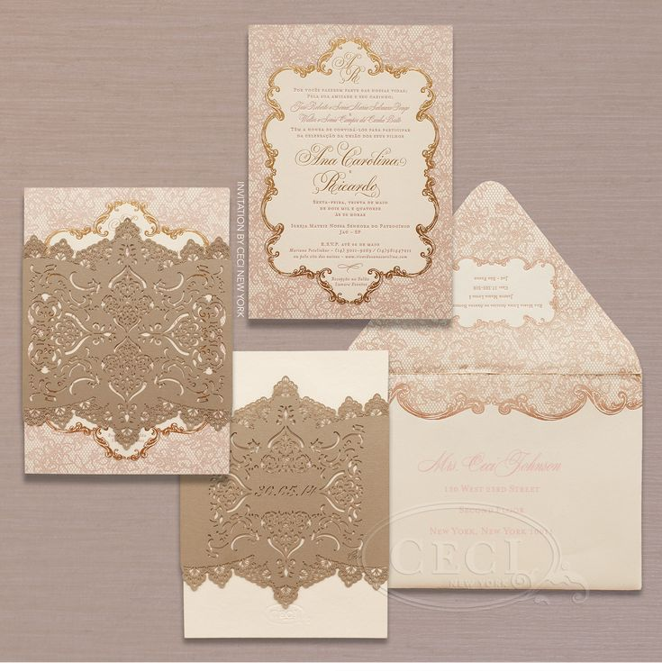 luxury wedding invitations by ceci new york romantic wedding in so paulo brazil