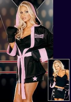 Boxer Girl Bartender Waitress Halloween Costume #Halloween #sexy #costumes www.southernLeathers.com @southernlthrs
