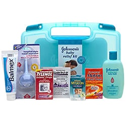 The free Johnson Baby Relief Kit can be a real blessing ...