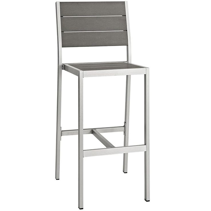 Modern Aluminum Outdoor Bar Stool