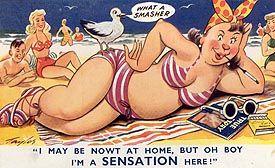 Naughty vintage postcard