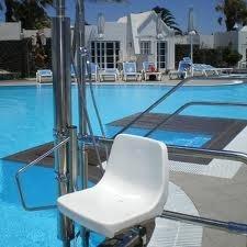 Pool hoist at bungalows nautilus in lanzarote