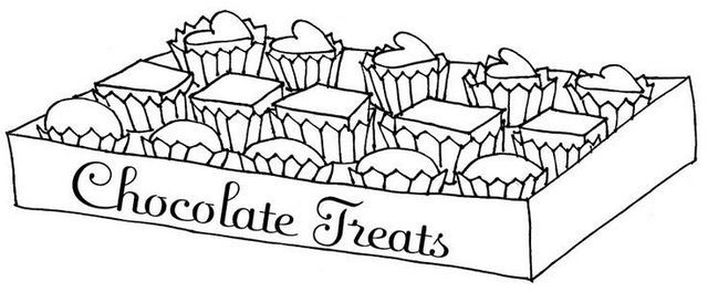 Delicious Chocolate Bar Treats Coloring Page Candy Coloring Pages Food Coloring Pages Heart Coloring Pages