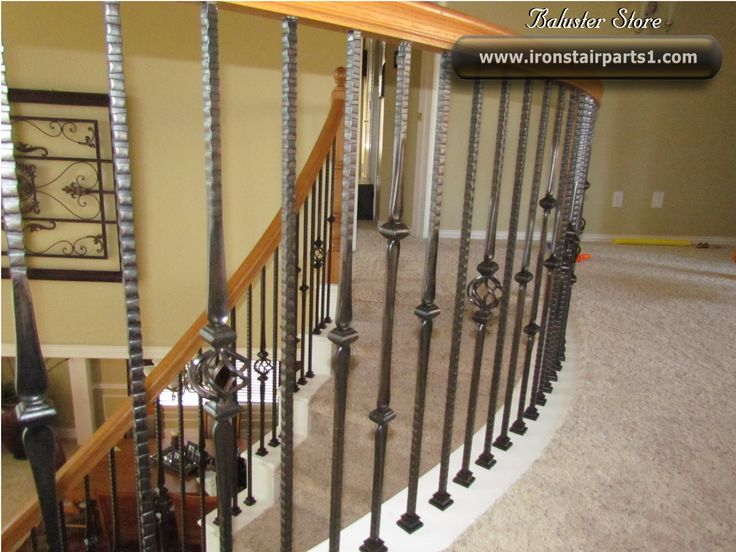 High Quality Powder Coated Iron Stair Parts