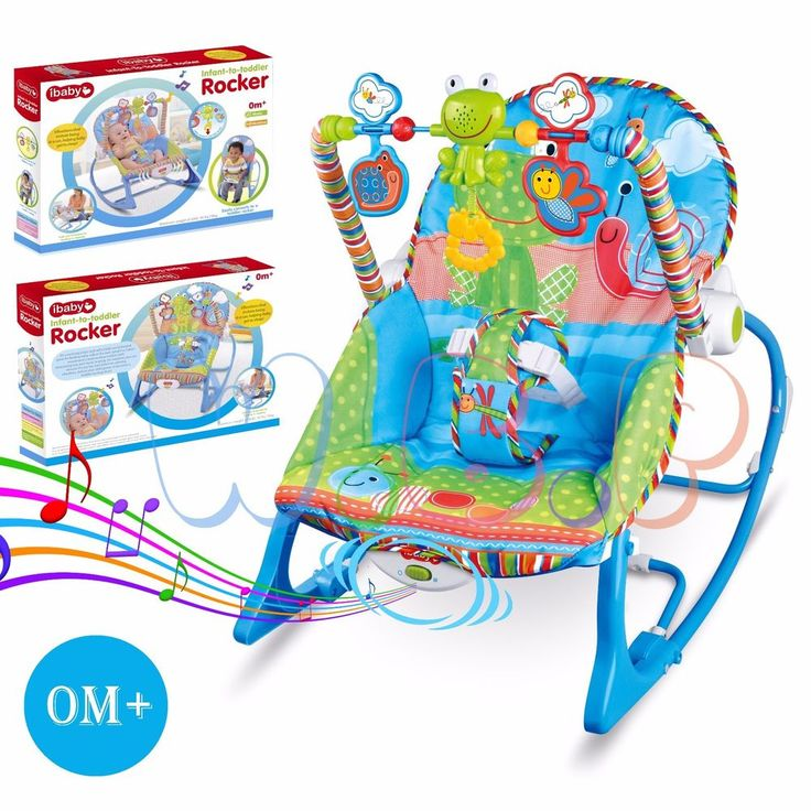 #Baby #Rocker #Bouncer #Reclining #Chair #Soothing Music Viberation with Toys 0M+
