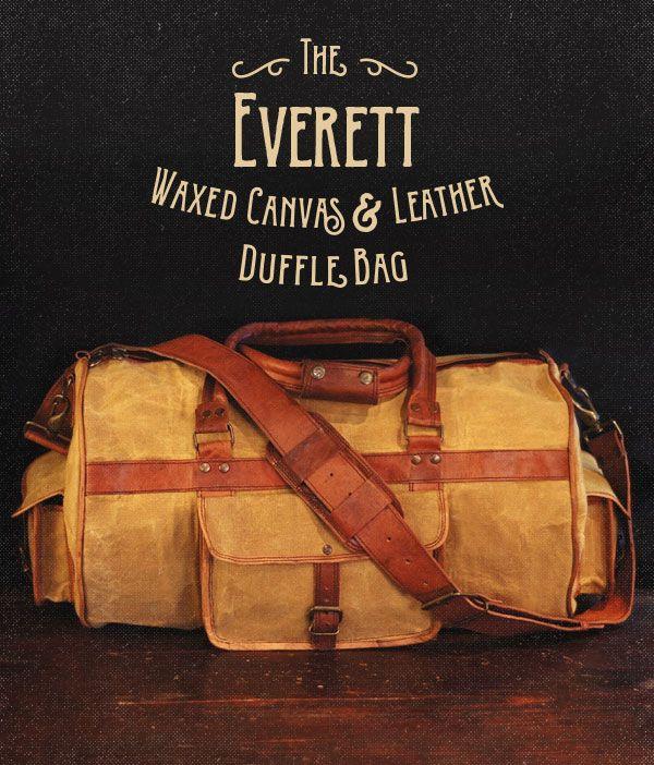 everett waxed canvas leather duffle bag wheat. Black Bedroom Furniture Sets. Home Design Ideas