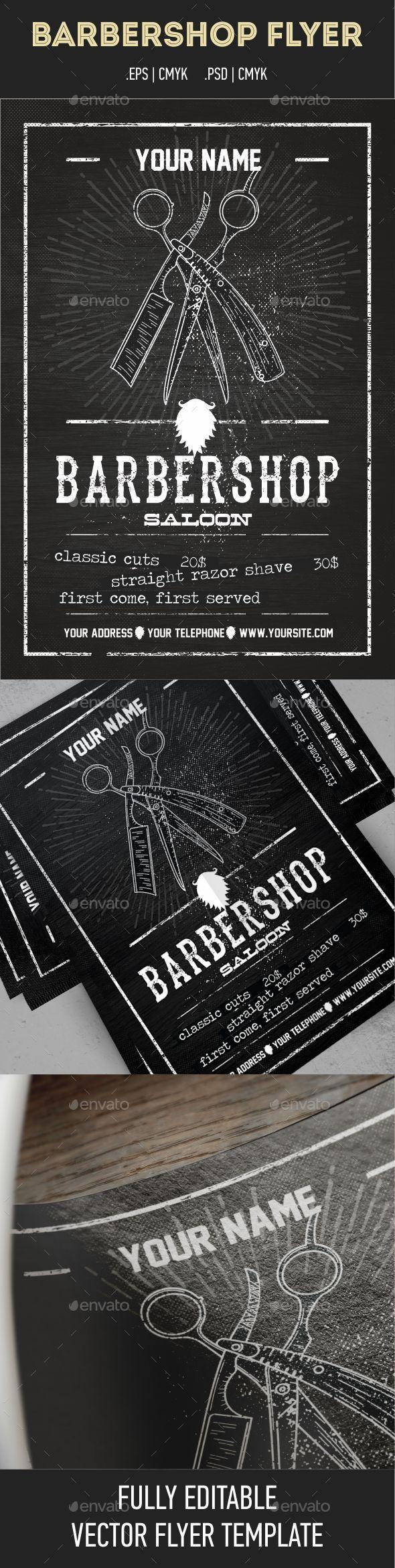 Barber Shop Flyer Template Is Retro Vintage Psd Flyer With A Modern - Barbershop flyer template