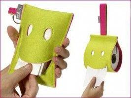 divertido dispenser de papel higienico