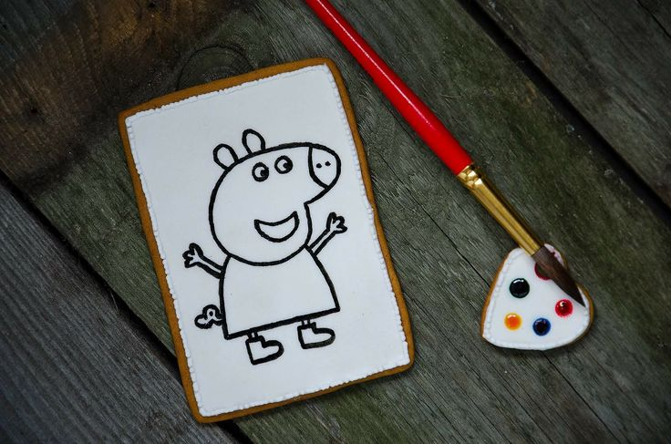 Paint you own gingerbread cookie Peppa