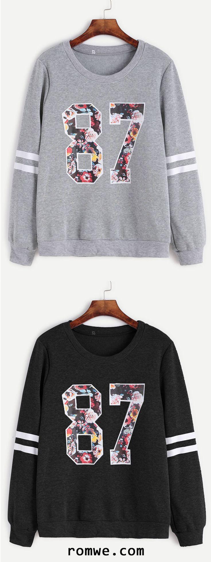 Varsity Print Sweatshirt