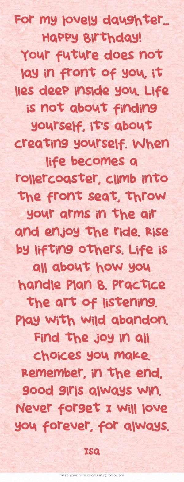 For my lovely daughter... Happy Birthday!!!!