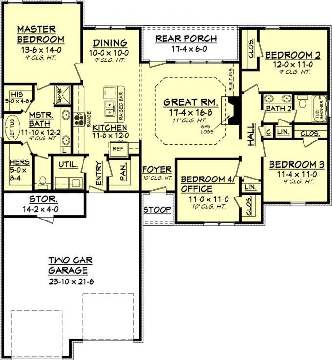 295 best house plans images on pinterest | cottage floor plans