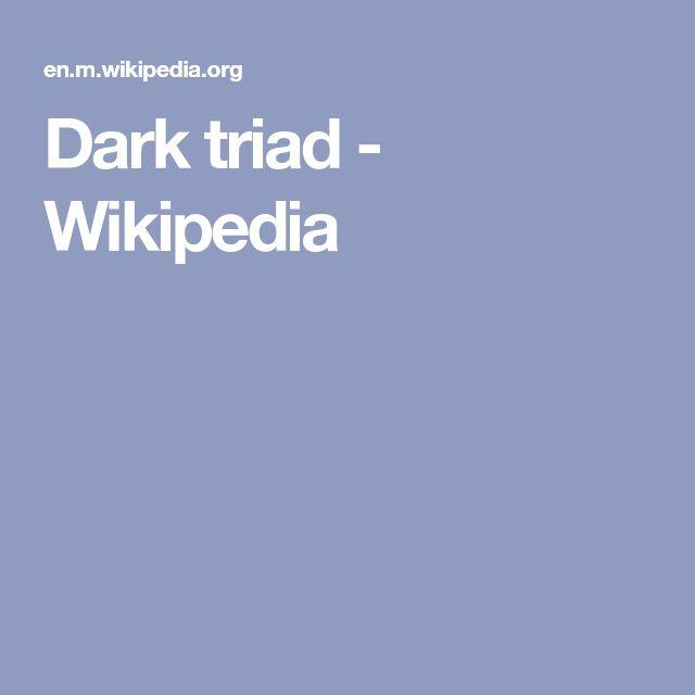 Dark triad - Wikipedia