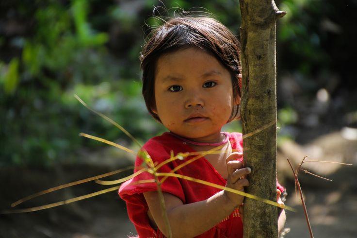 Little Burma girl posing in Kayin State