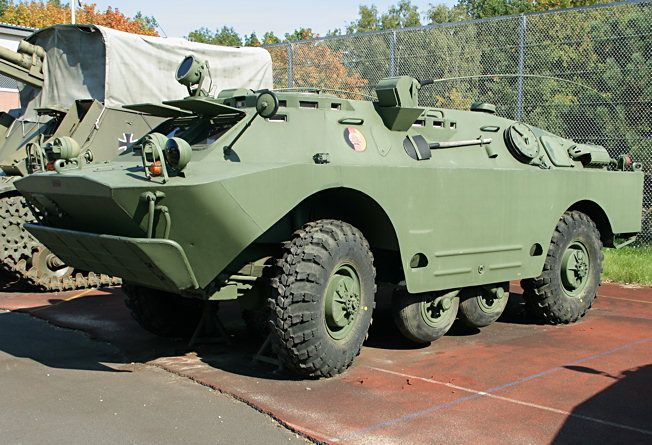 BRDM-2U is a command vehicle of this family of vehicles