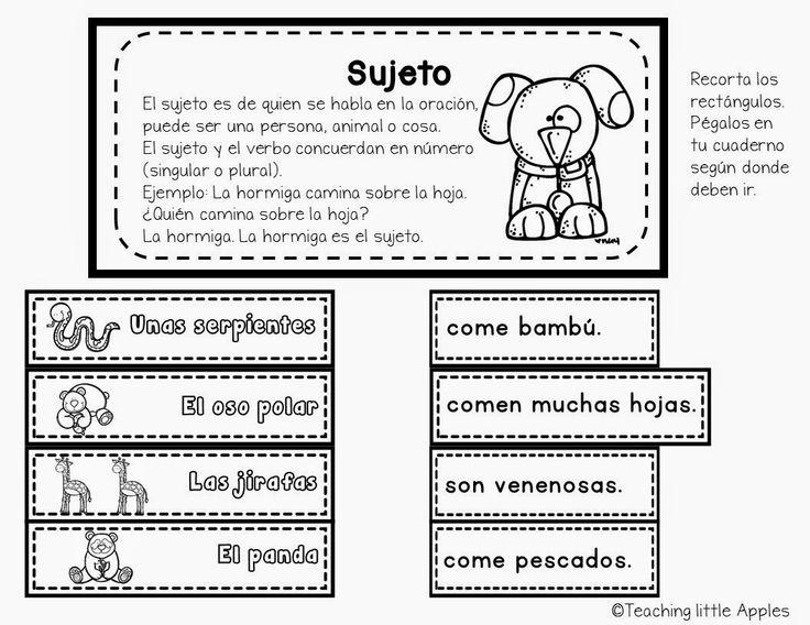 Sujetos, part of grammar pack