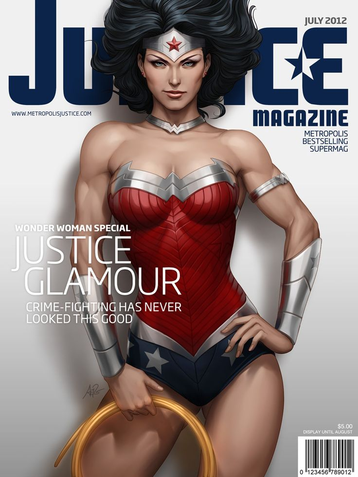 The Geeky Nerfherder: Cool Art: Justice Magazine ft Wonder Woman by Stanley Lau