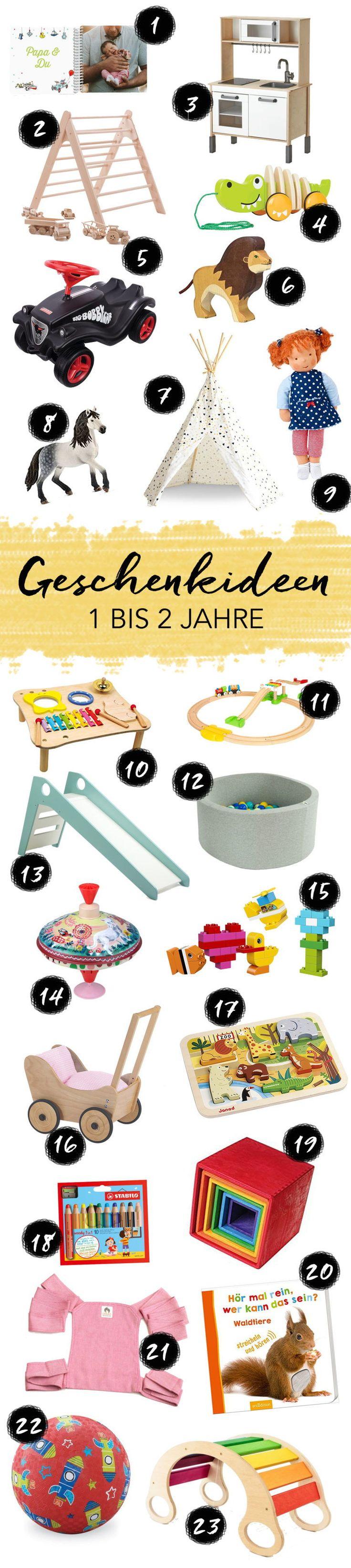 Geschenkideen für Kinder im Alter von 1 bis 2 Jahren