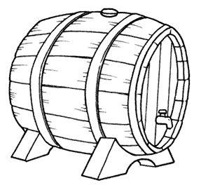Botte di vino da colorare disegni da for Disegni di lupi da stampare