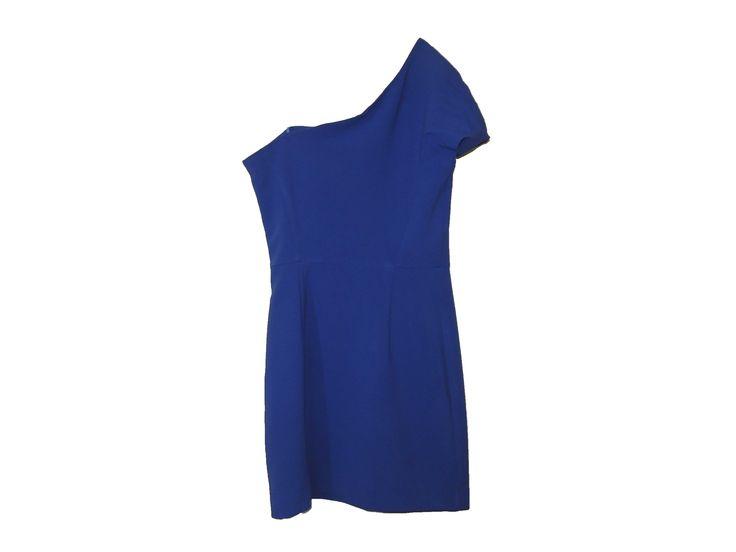 Tek Kollu Mavi Elbise