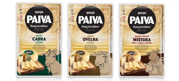 Gama de queijos tradicionais fatiados Paiva Transmontano #packaging #design #food #cheese #sheep #goat #threemilks #regional #classic