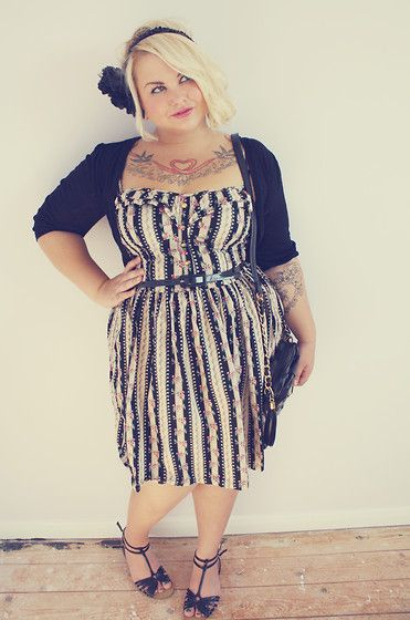 Yes! Finally found some plus-size girls on Lookbook.nu! :) Love this girl's outfit!