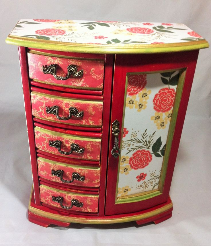 34 best JEWELRY BOX RECYCLE images on Pinterest Jewelry armoire