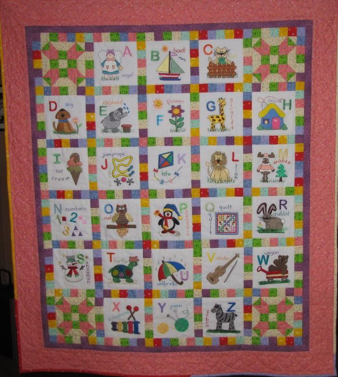 Quilt Block Patterns In Alphabetical Order : 17 Best images about alphabet quilts on Pinterest Printed cotton, Lewis carroll and The block