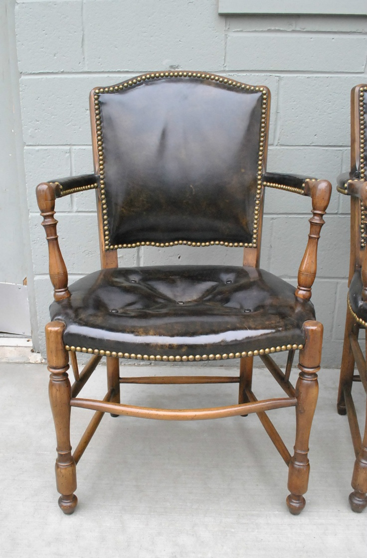 Hand carved amp upholstered chair late 1800 s grand rapids mi area - Barnard Simonds Co Leather And Hardwood Arm Chair