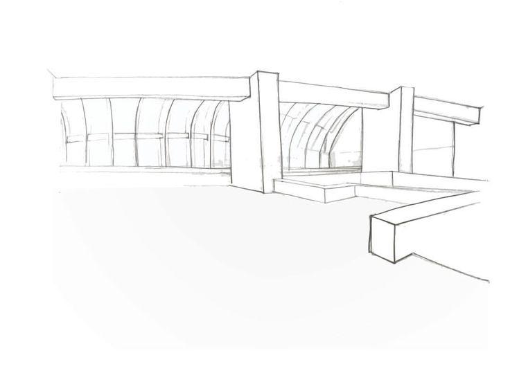 """262 Gostos, 3 Comentários - K i M a r t i n s A r t i s t (@kimartinsartist) no Instagram: """"#architecture #sketch #drawing"""""""