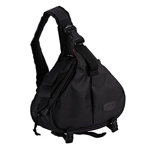 DSLR SLR Camera Bag Travel Outdoor Backpack Knapsack Waterproof and Sling Bag Shoulder Bag for Canon Nikon Sony Olympus Samsung Panasonic Pentax Camera and Camera Accessories Black >>> See this great product.