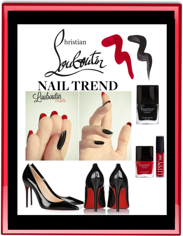 """""""Christian Louboutin Nail Trend"""" by sherry7411 ❤ liked on Polyvore"""