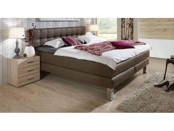 Luxus Boxspringbett La Mancha 120x220 Cm Taupe H4 Betten
