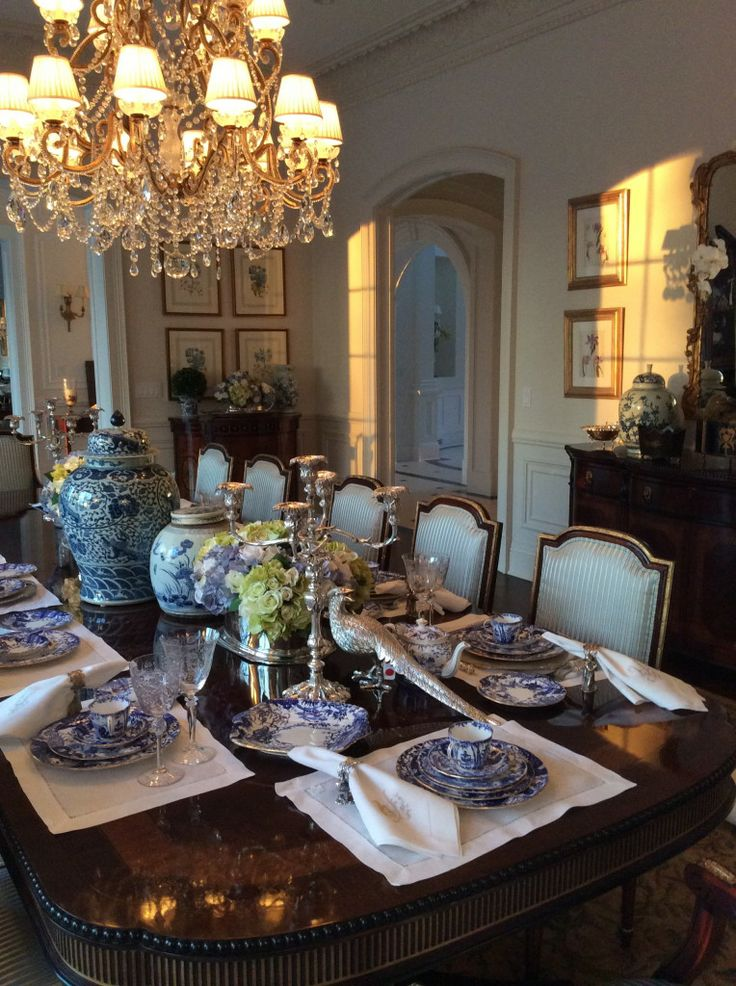 17 best images about my favorite interiors on for Elegant dining table centerpieces