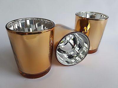 24 ROSE GOLD Votive Tealight Candle Holder - BULK PACK - Parties Weddings Events