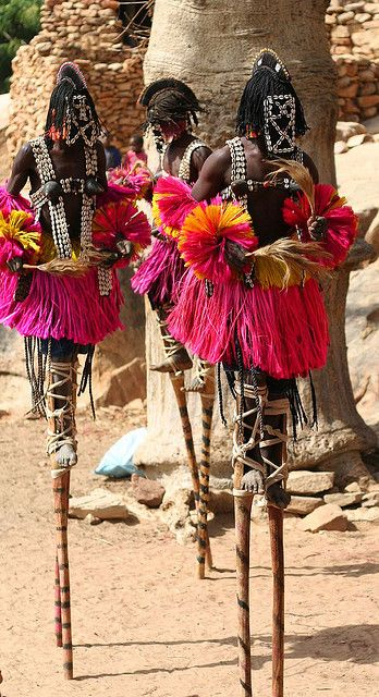 Now here's something you don't see everyday. Dogon Africa mask dance. Mali