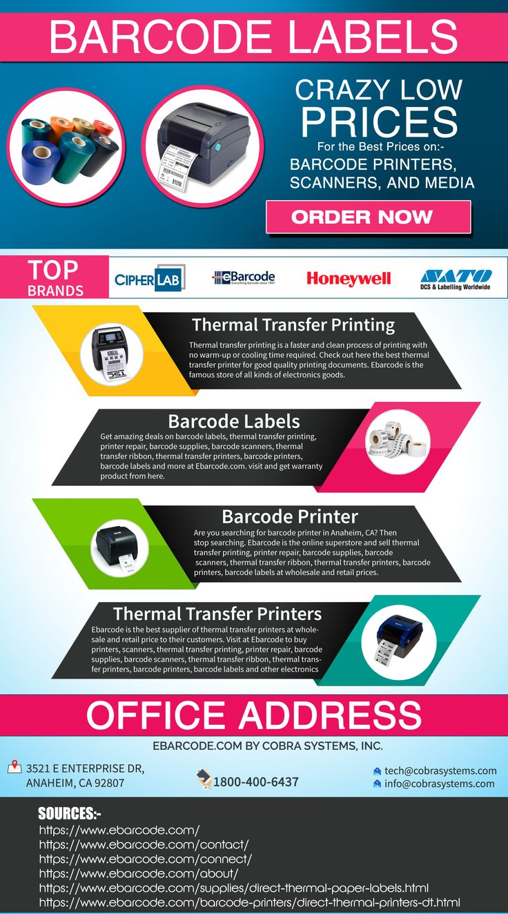 Thermal transfer printers works with thermal transfer ribbon and other media that are capable to print thousands of labels in a day. Shop your best thermal transfer printers from Ebarcode that are the trusted supplier of printers, scanners and all kinds of electronics accessories.