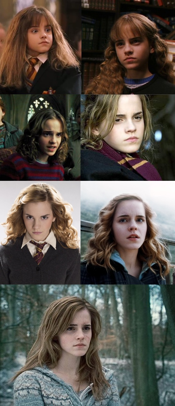 Hermione Jean Granger, through the years