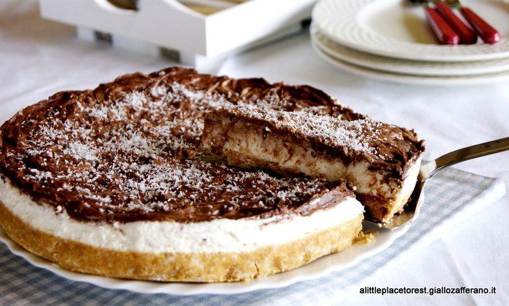 Cheesecake cocco e cioccolato alla ricotta - Choco-coconut cheesecake with ricotta