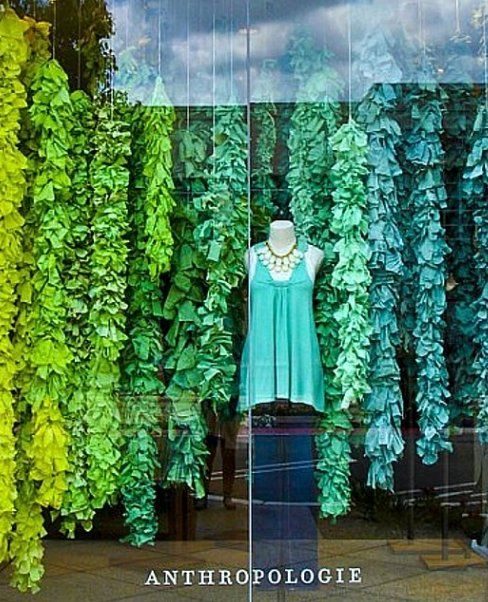 These vines are made out of dyed muslin and tied around spring. this would be cute to do during spring time in class.