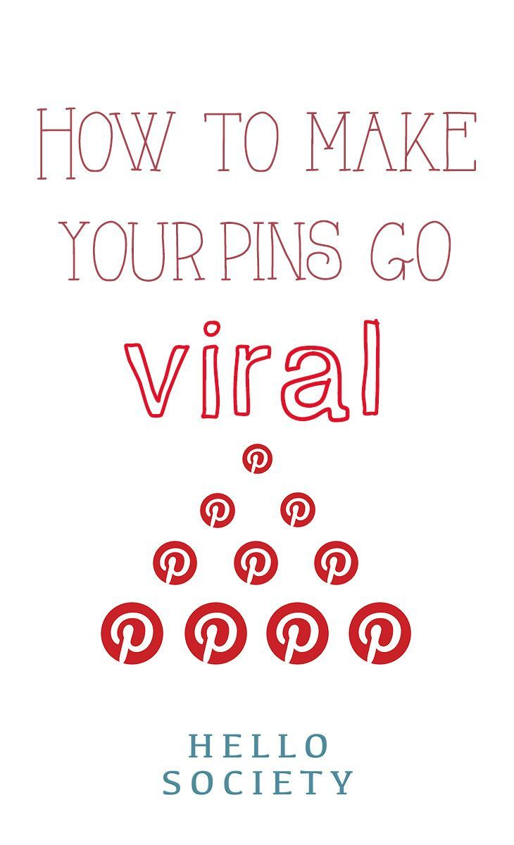 How to make your pins on #Pinterest go viral. For more Pinterest tips, follow #PinterestFAQ, curated by #JosephKLeveneFineArtLtd https://pinterest.com/jklfa/pinterest-faq/