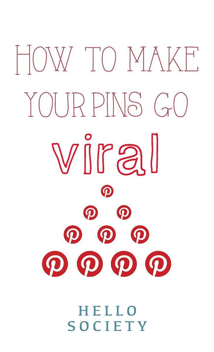 How to make your pins on #Pinterest go viral. For more Pinterest tips, follow #PinterestFAQ, curated by #JosephKLeveneFineArtLtd https://pinterest.com/jklfa/pinterest-faq/