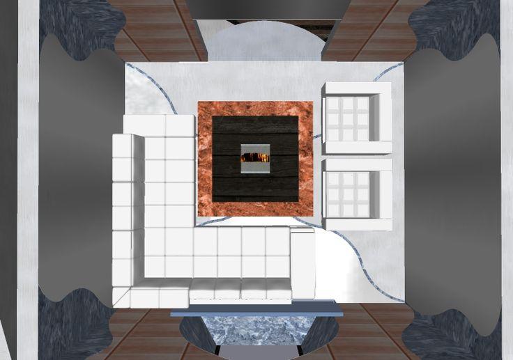 plan view,winter seating