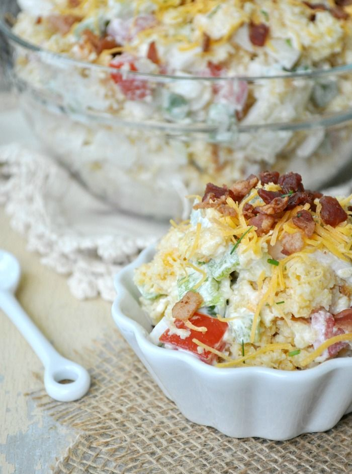 One of my Favorite Recipes !! The Best Bacon and Cheese Cornbread Salad !
