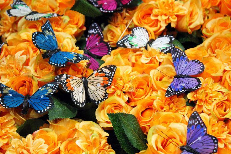 #Fiori e #farfalle artificiali da Naturalmente.