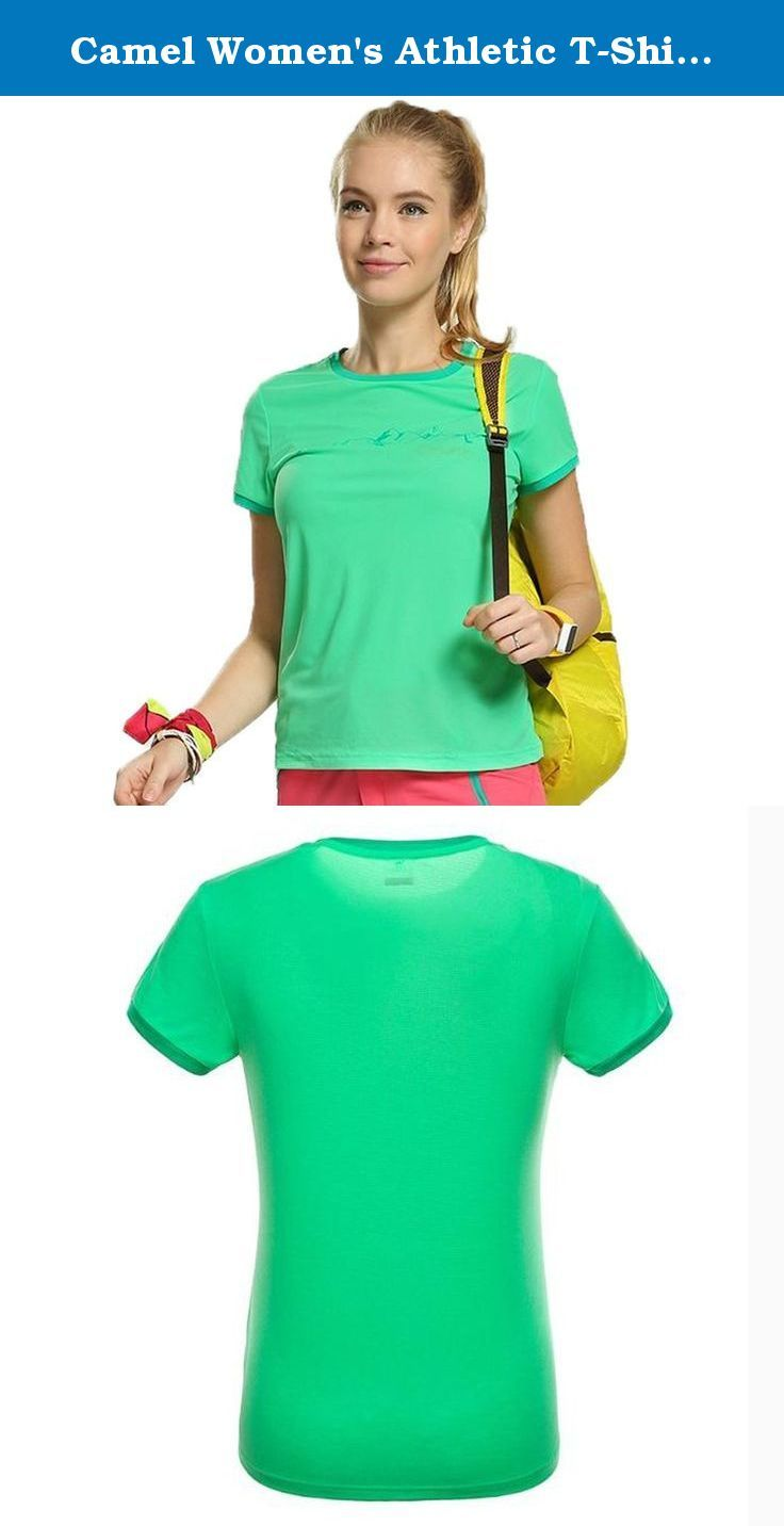 "Camel Women's Athletic T-Shirts Color Green Size XL. This shirt is new arrivel in spring and summer 2015.Its features Moisture wicking and quick dry.Slim fit models makes it is easy for you to show your ""S"" body freely."